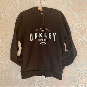 Men's Oakley Graphic Pullover Hoodie Black Size L